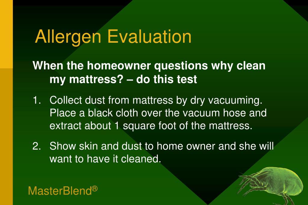 Allergen Evaluation