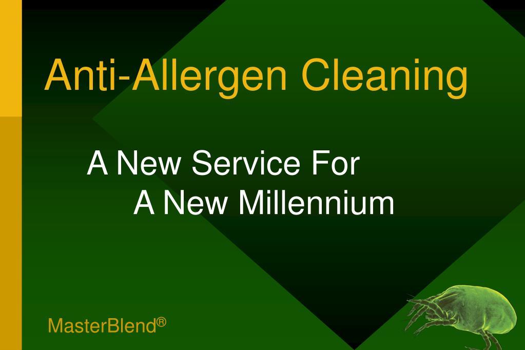 Anti-Allergen Cleaning