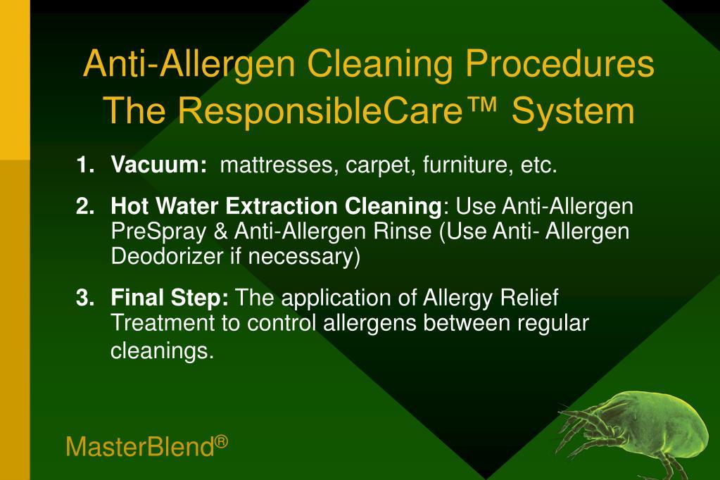 Anti-Allergen Cleaning Procedures