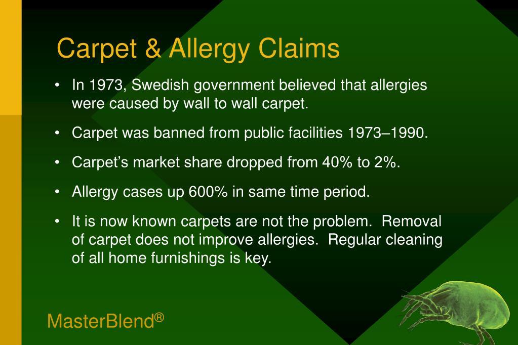 Carpet & Allergy Claims
