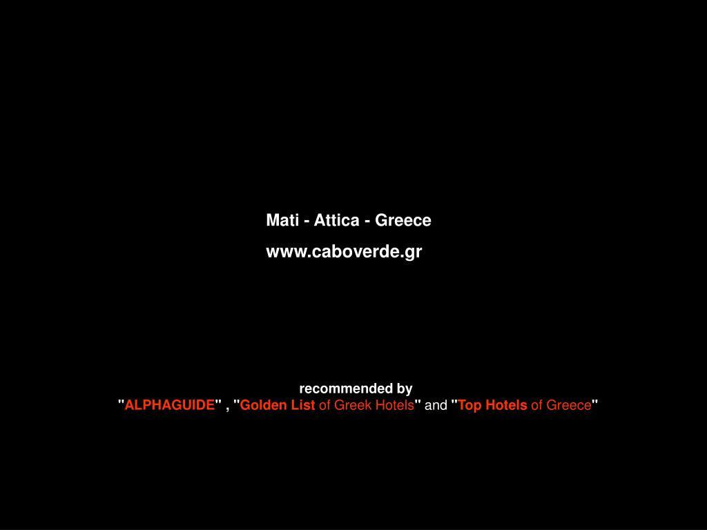 Mati - Attica - Greece
