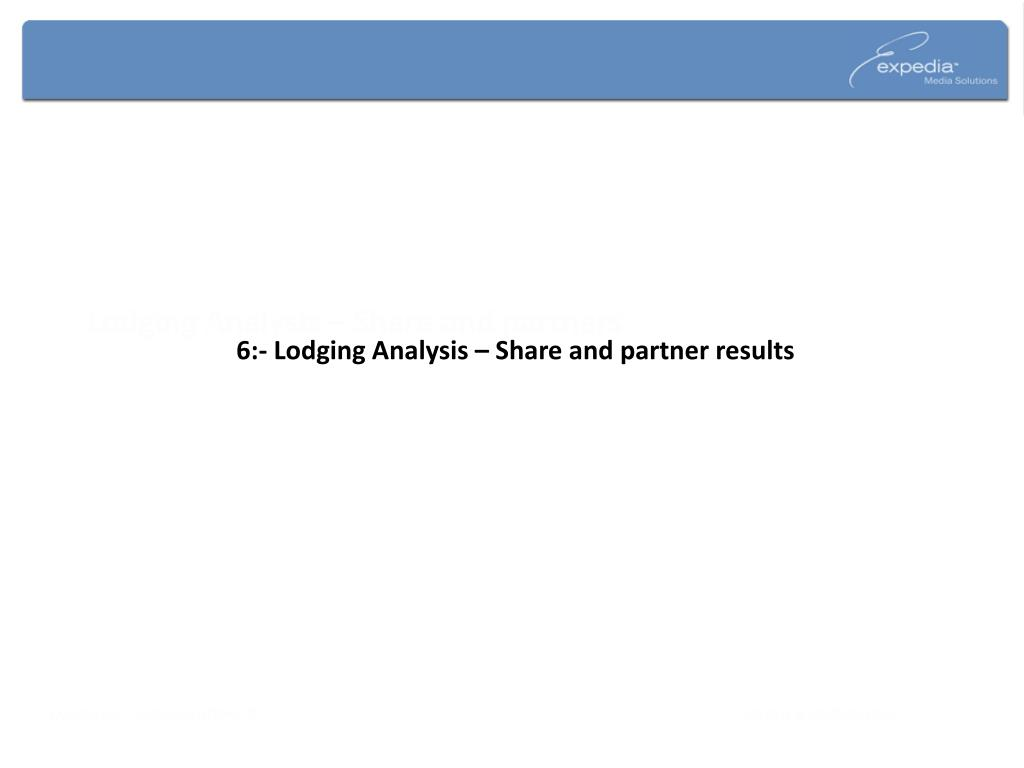 Lodging Analysis – Share and partners