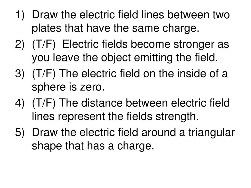 Draw the electric field lines between two plates that have the same charge.