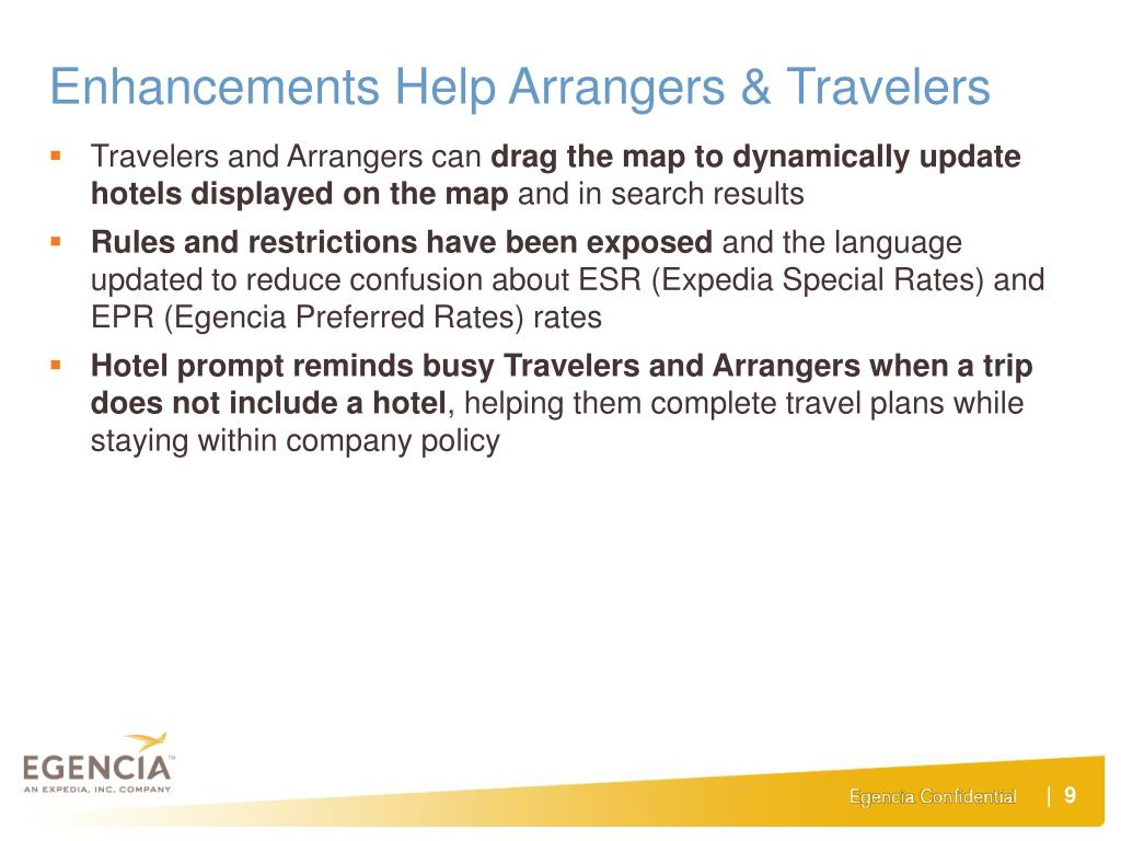 Enhancements Help Arrangers & Travelers