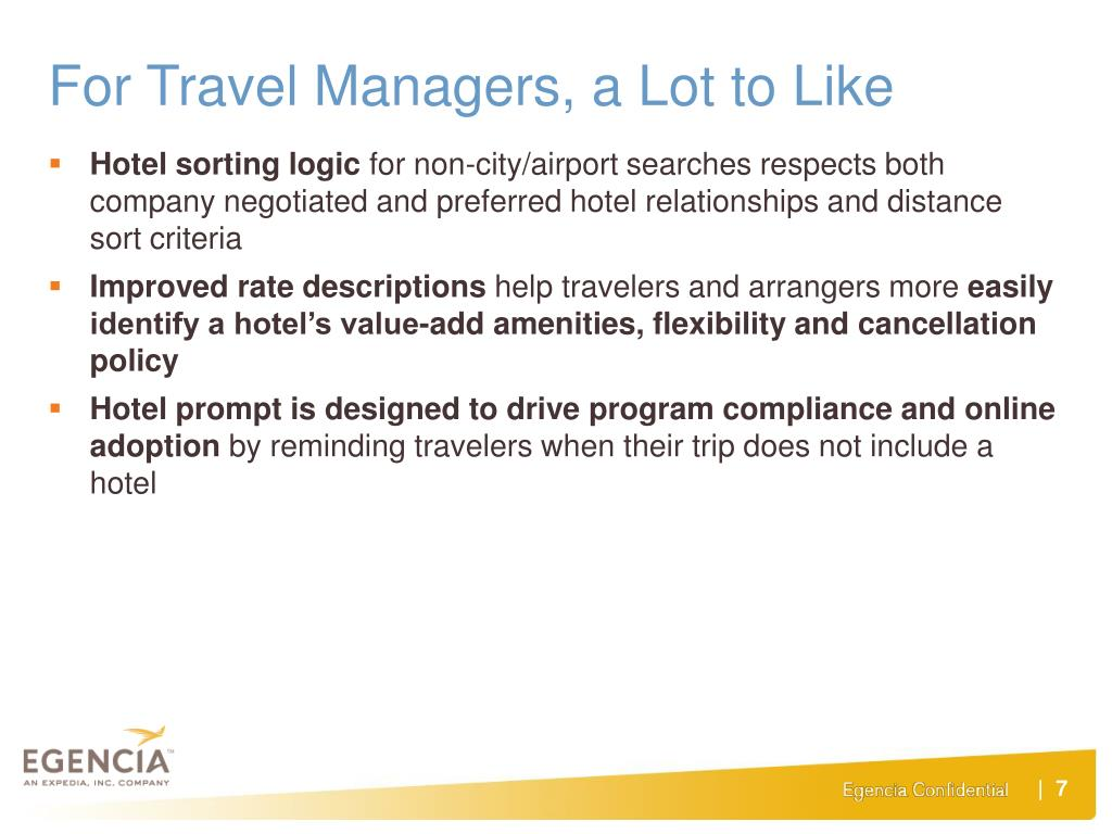 For Travel Managers, a Lot to Like