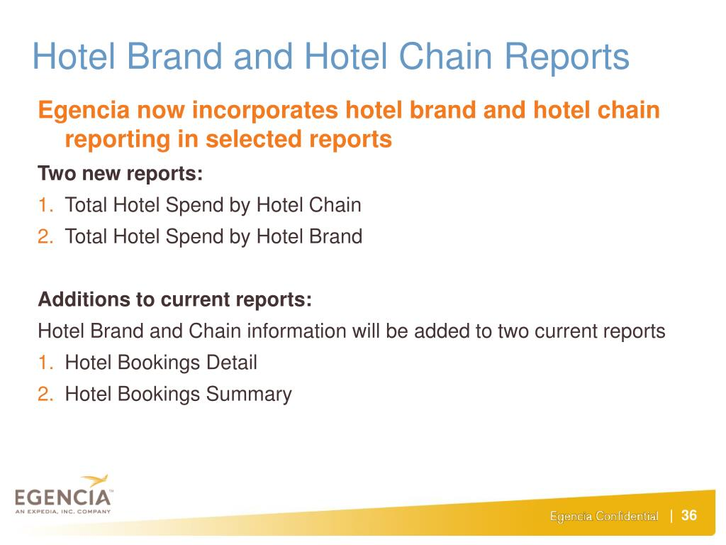 Hotel Brand and Hotel Chain Reports