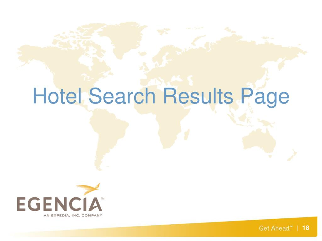 Hotel Search Results Page