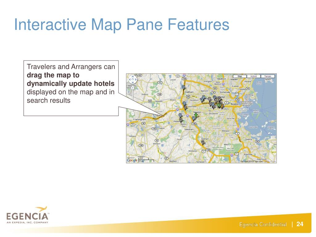 Interactive Map Pane Features