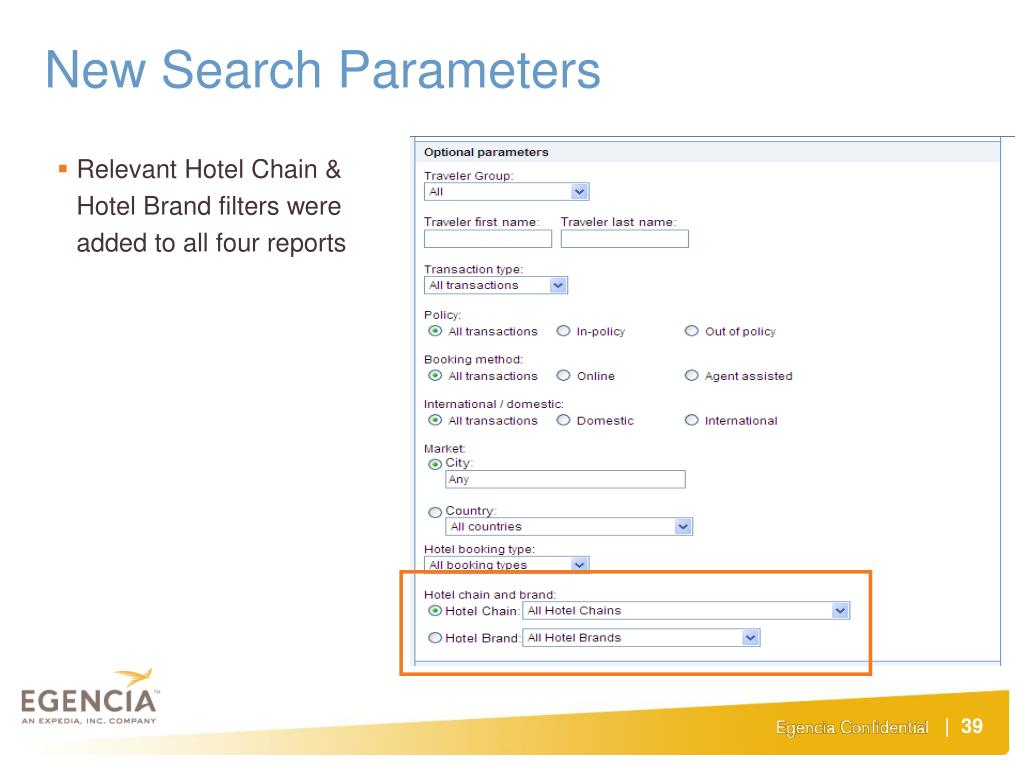 New Search Parameters