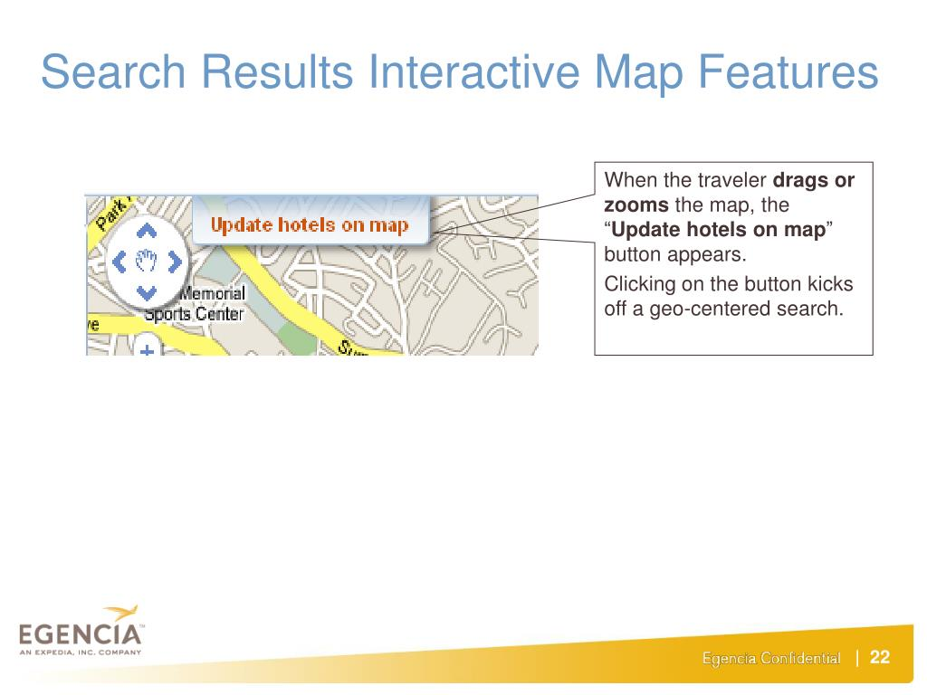 Search Results Interactive Map Features