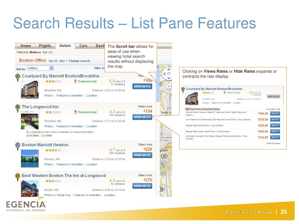 Search Results – List Pane Features