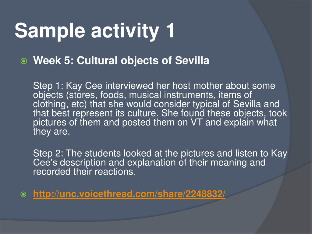 Sample activity 1