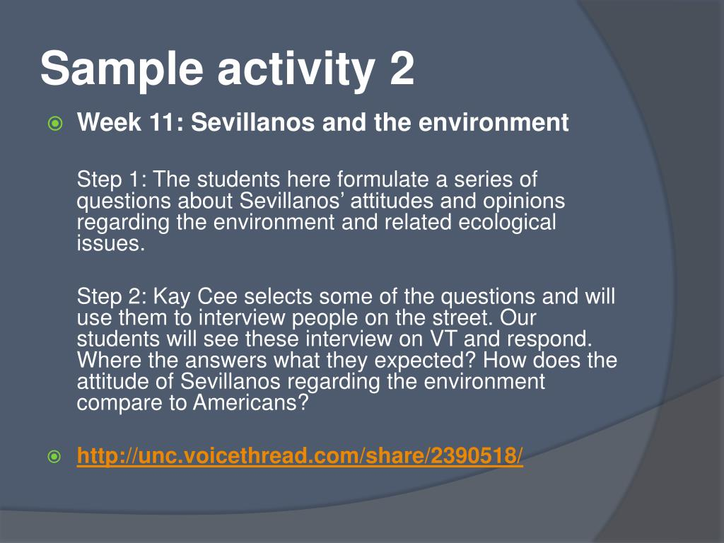 Sample activity 2