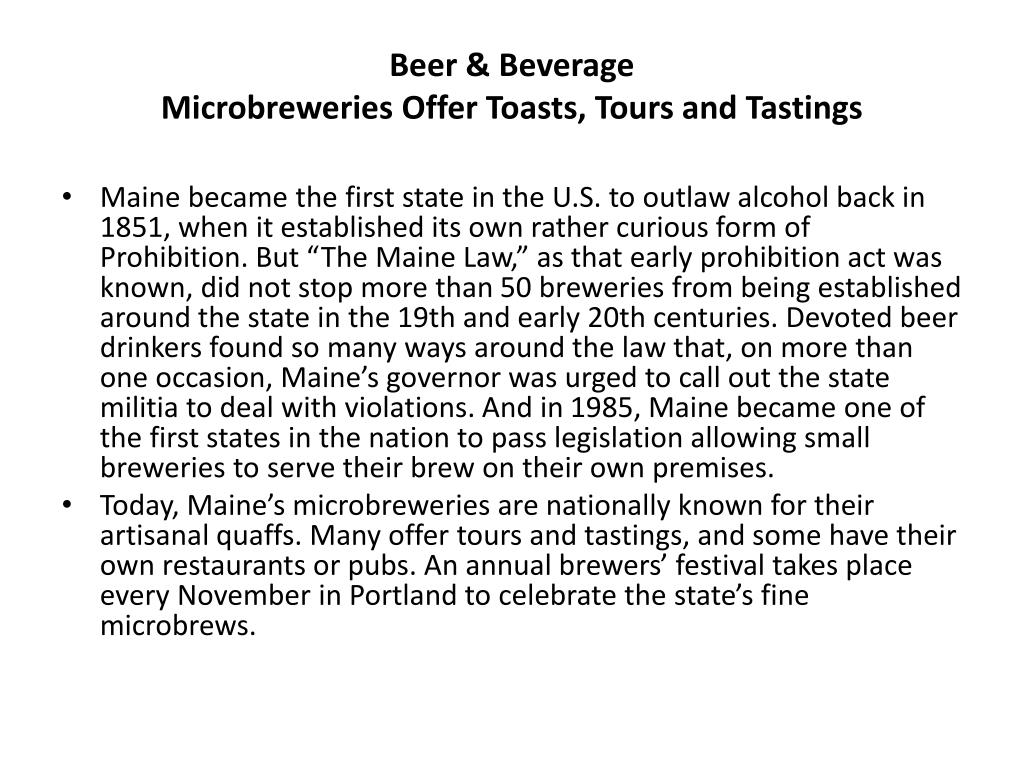 Beer & Beverage