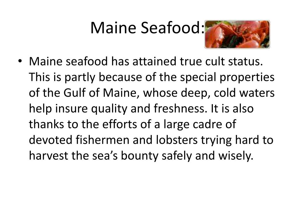 Maine Seafood: