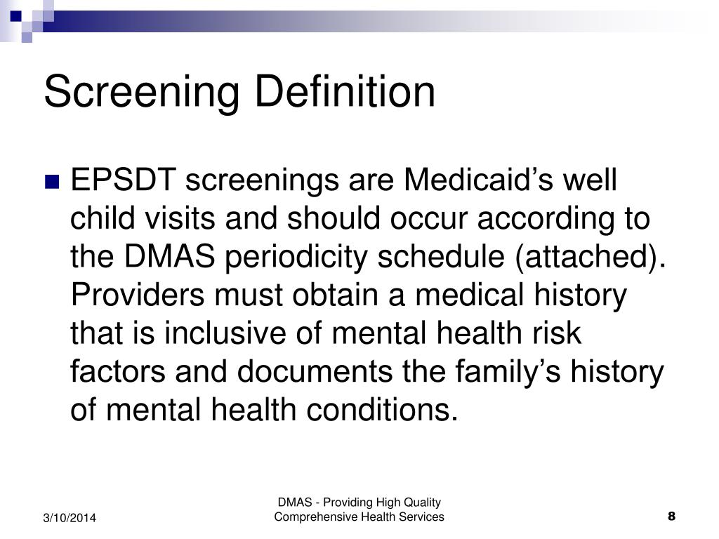 Screening Definition