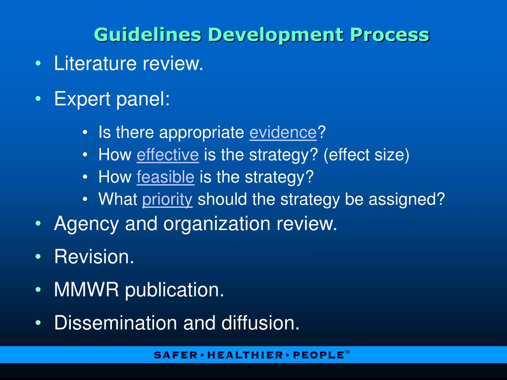 Guidelines Development Process