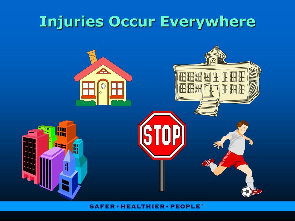 Injuries Occur Everywhere