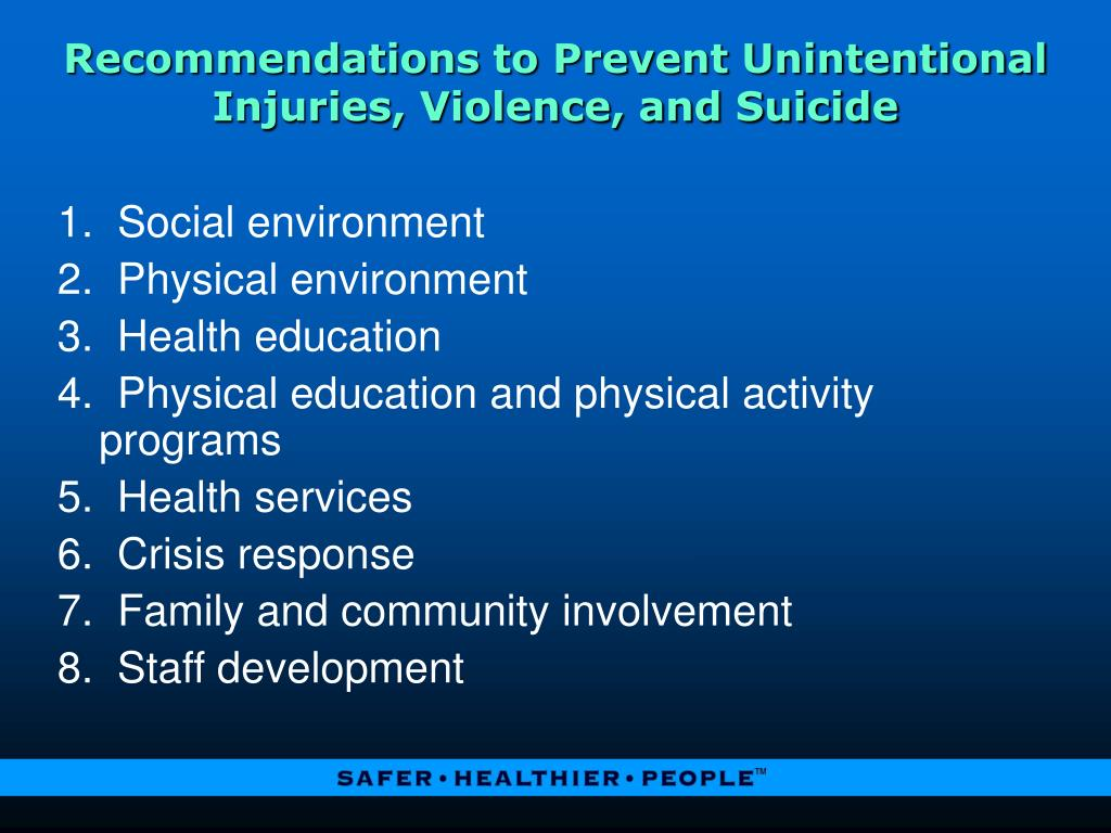 Recommendations to Prevent Unintentional