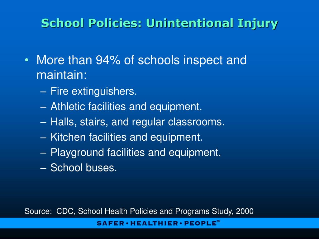 School Policies: Unintentional Injury
