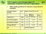fao irrigation and drainage paper 47 wastewater treatment and use in agriculture27
