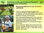 guidelines on the use of urine and faeces in crop production ecosanres22
