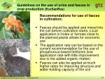 guidelines on the use of urine and faeces in crop production ecosanres23
