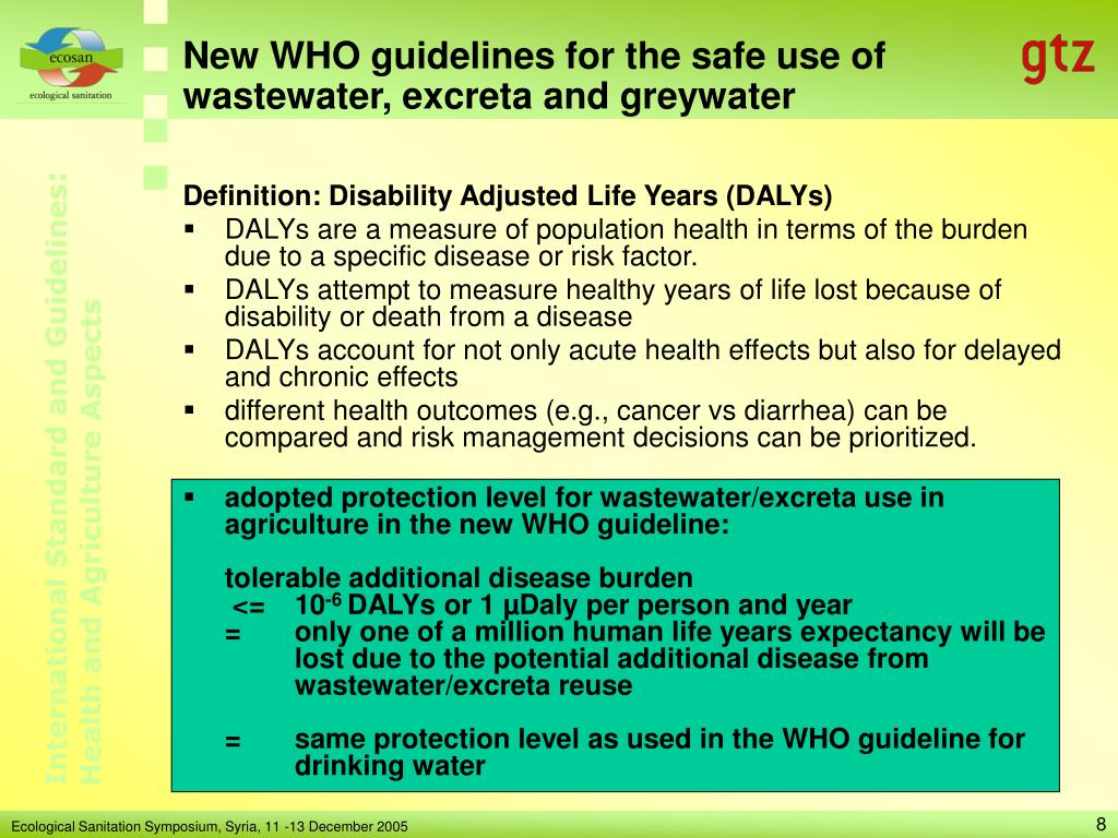 New WHO guidelines for the safe use of wastewater, excreta and greywater