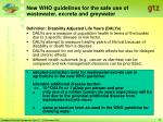 new who guidelines for the safe use of wastewater excreta and greywater8
