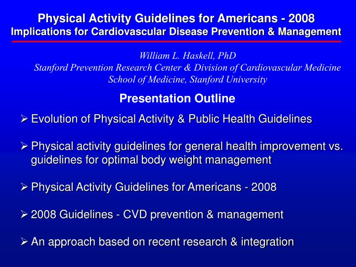 Physical Activity Guidelines for Americans - 2008