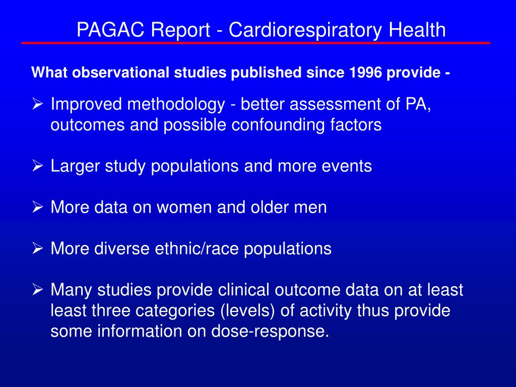 PAGAC Report - Cardiorespiratory Health