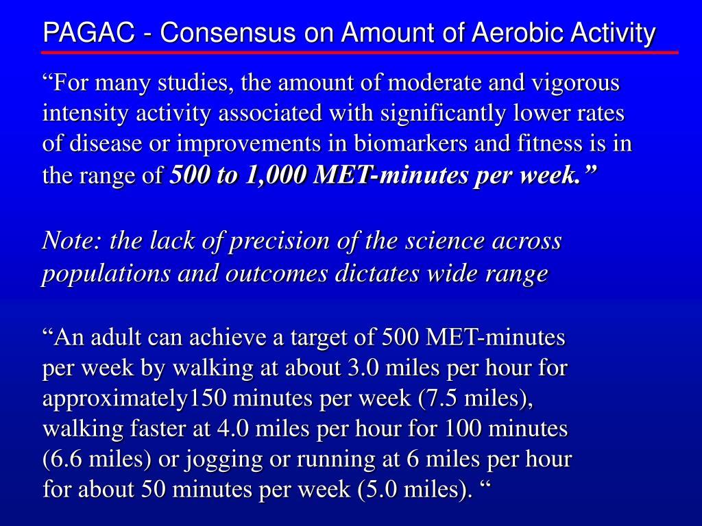PAGAC - Consensus on Amount of Aerobic Activity