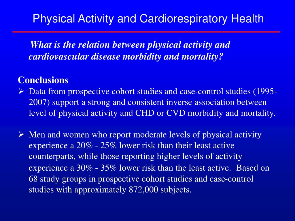 Physical Activity and Cardiorespiratory Health