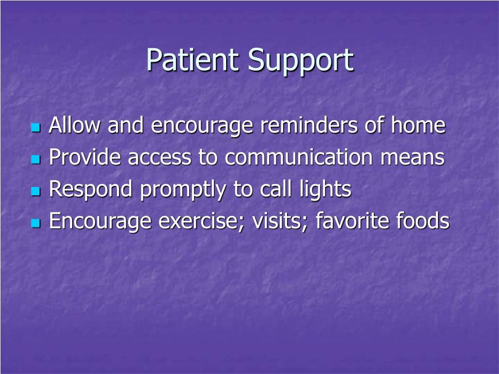 Patient Support