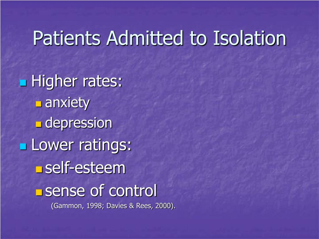 Patients Admitted to Isolation