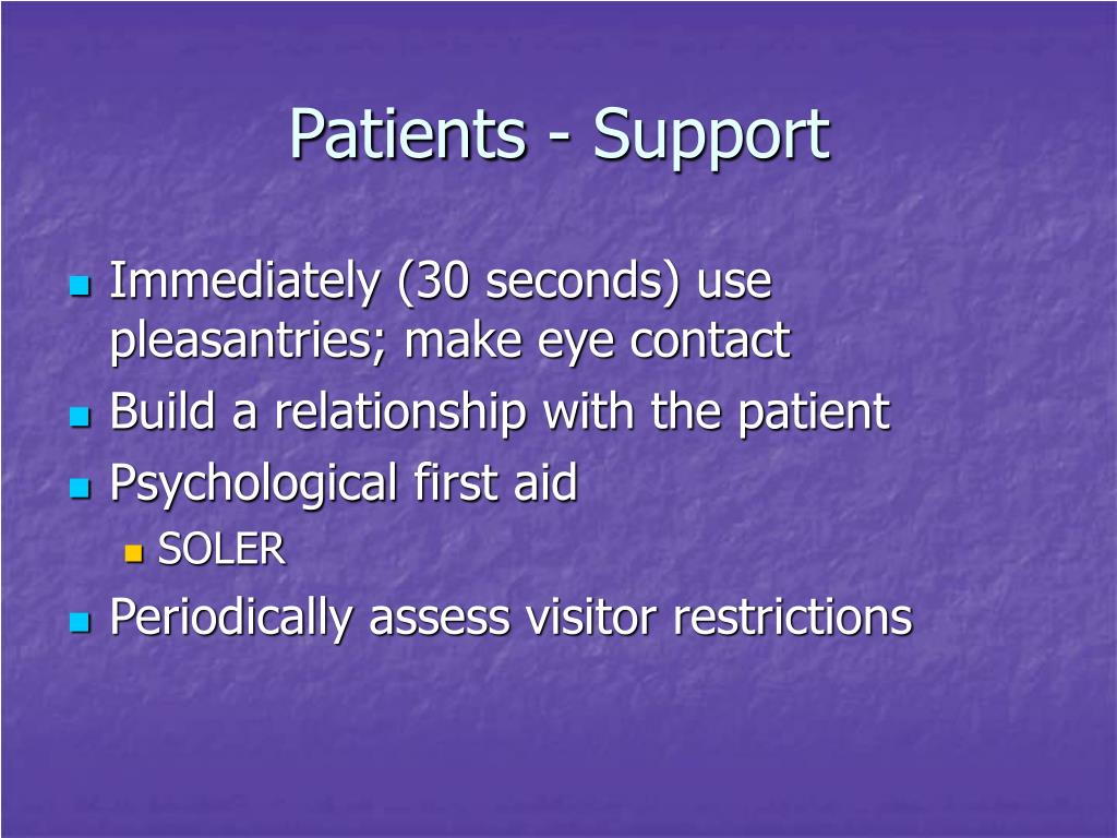 Patients - Support