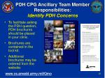 pdh cpg ancillary team member responsibilities identify pdh concerns24