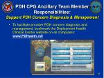 pdh cpg ancillary team member responsibilities support pdh concern diagnosis management32