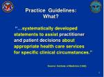 practice guidelines what