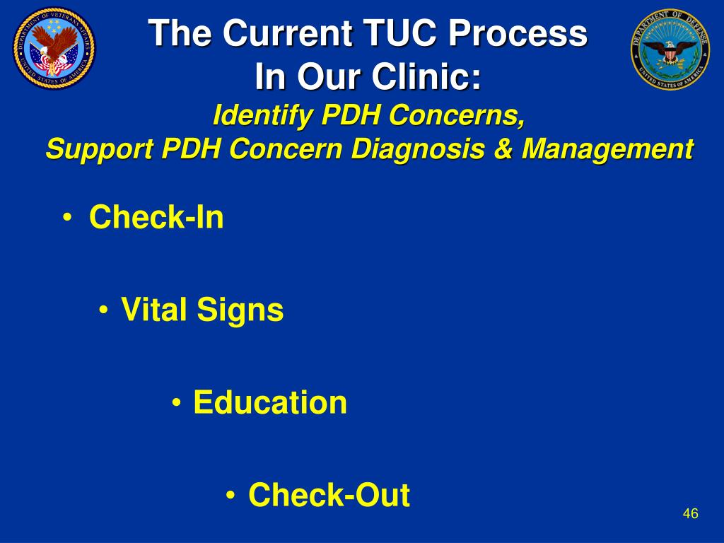 The Current TUC Process