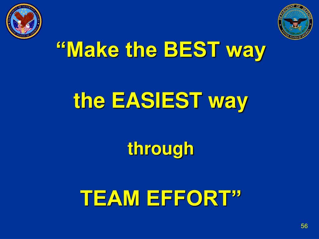 """""""Make the BEST way"""