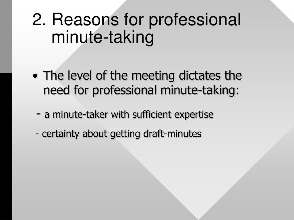 2. Reasons for professional