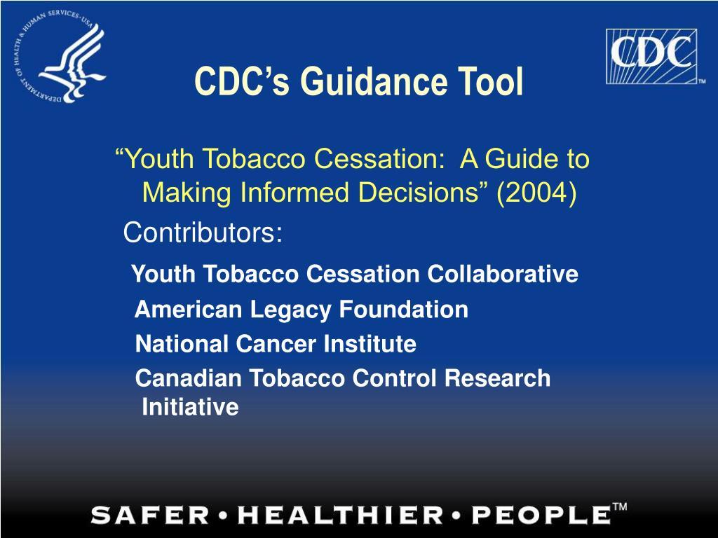 CDC's Guidance Tool