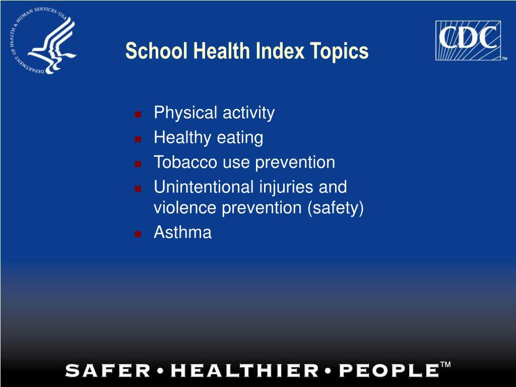 School Health Index Topics
