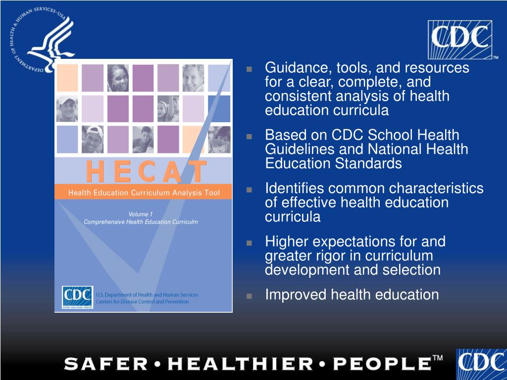 Guidance, tools, and resources for a clear, complete, and consistent analysis of health education curricula