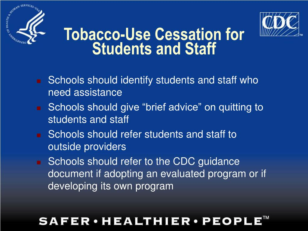 Tobacco-Use Cessation for Students and Staff