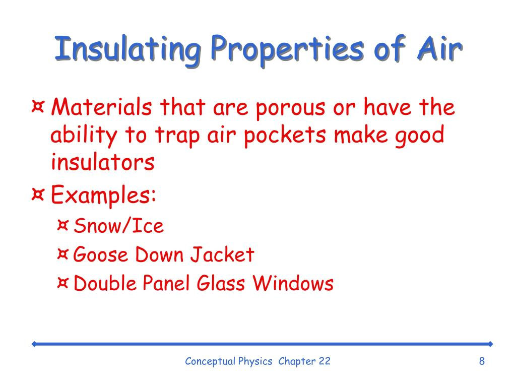 Insulating Properties of Air
