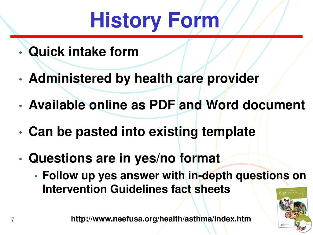 History Form