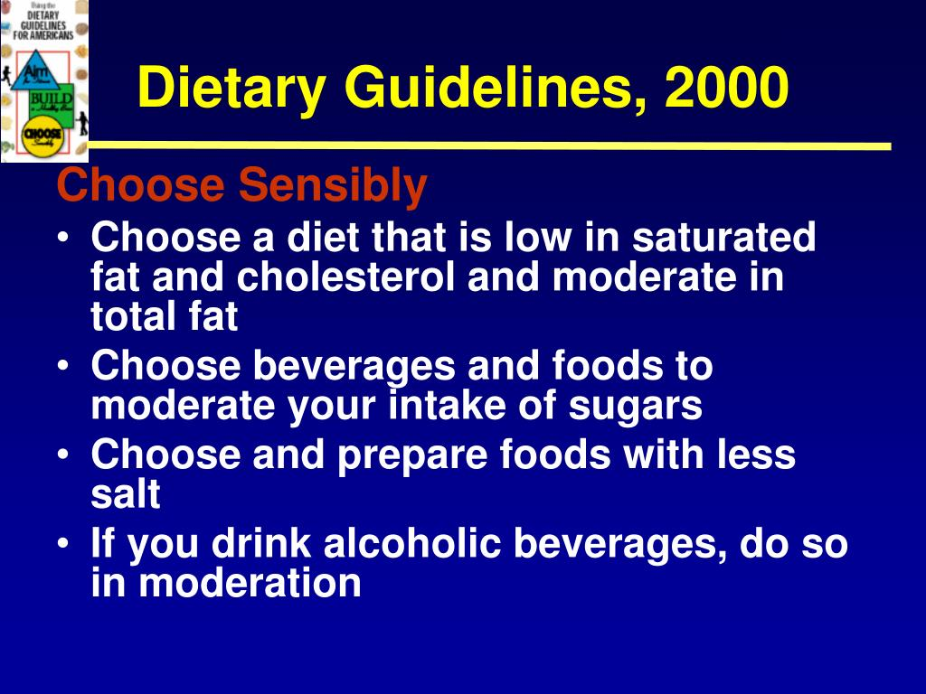 Dietary Guidelines, 2000