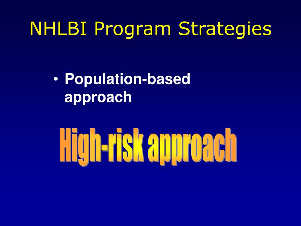 NHLBI Program Strategies